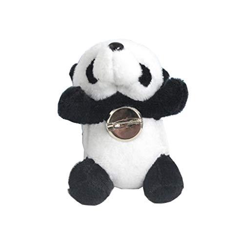 MEIKONG Niedlichen pelzigen Panda Brosche Bär Tier Haarnadel Dag Kleidung Schuhe Dekor Schmuck -