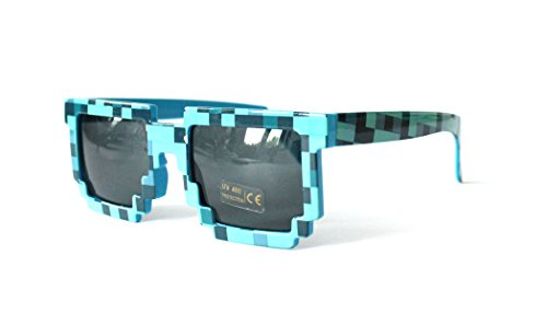 Pixelbrille Sonnenbrille Pixelsonnenbrille Pixel Brille Pixelbrille (SGP1150-H-Blue) (Blaue Pixel Sonnenbrille)