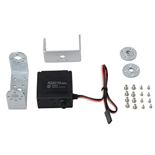 Asdomo Digitales Servo, Roboter-Servo Metallgetriebe Digitales Servo für Roboter DIY ausgezeichnetes Servo, 180/270 Grad biaxial Digital Servo für Rc Roboter