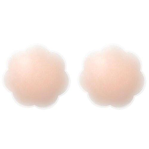 5Paar Damen wiederverwendbar selbstklebend Nipple Covers unsichtbar rund Silikon Cover und Brust-Blütenblätter für Frauen