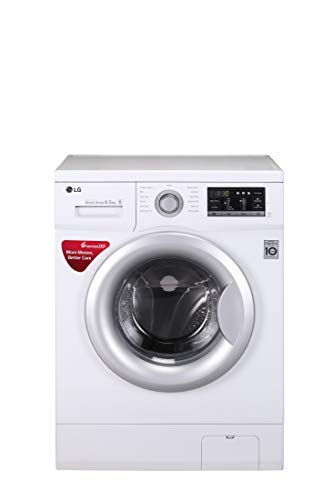 LG 6.5 kg Fully-Automatic Front Loading Washing Machine (FH0G7WDNL12, White)