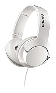 Philips SHL3175WT BASS+ Headphones with Mic, Remote Control for Hands-Free Calls, Sound Isolation, Flat Folding - White (B072JTQ59W) | Amazon price tracker / tracking, Amazon price history charts, Amazon price watches, Amazon price drop alerts