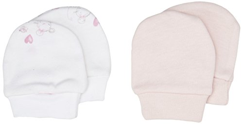 Mothercare Mädchen Fäustlinge Little Mouse-2 Pack, Pink (Barely Pink), Medium