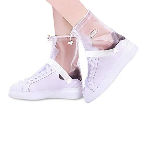 YMTECH Regenüberschuhe Wasserdicht Schuhe 1 Paar, Outdoor Rutschfester Radsportschuhe Überschuhe (Transparent, 42 - 43 EU)