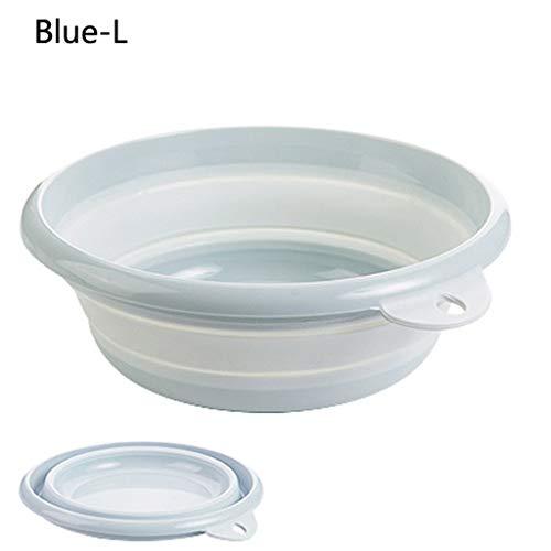 1 stücke Tragbare Falten Waschbecken Kunststoff Hohe Kapazität Reise Outdoor Camping Becken Haushaltsreinigungswerkzeug (Color : C, Größe : L)
