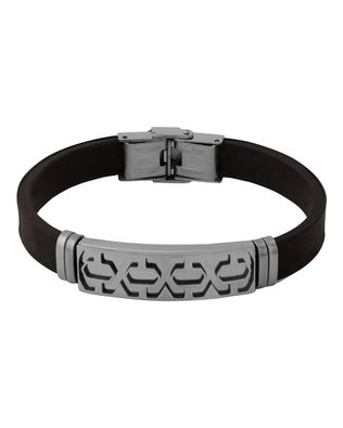 Voylla Black Rubber Band Style Bracelet For Men From Dare by Voylla  available at amazon for Rs.360