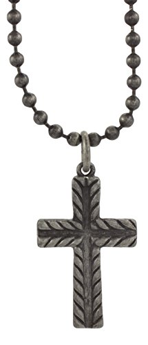 cruz-accessoires-double-face-croix-sur-457cm-chane-boule-collier-vintage