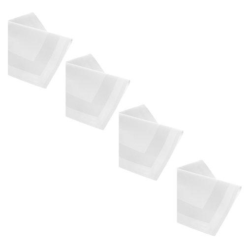 Baumwolle Serviette Stoff (DAMAST Tischdecke 12 x Servietten 50x50 cm Weiss Atlaskante 100% Baumwolle Tischwäsche Tablecloths von DecoHometextil)
