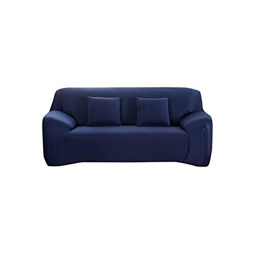 Baumwolle Königin Futon Cover (Sofa Slipcovers für Wohnzimmer elastischen Polyester Sofa Handtuch Möbel-Schutz Polyester Love Seat Couch Cover, Marineblau, 2 Seater)