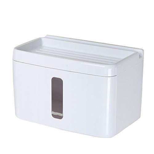 Fornateu Punch-Free wasserdichte Toilettenpapier-Organizer Box Staubdichtes Toilettenpapier Abstellflächen Rack-Rollenpapier-Halter -