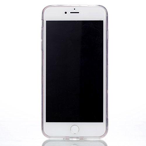 Coque iPhone 7 Plus , Etui Bling Glitter Pailletee TPU Case Cover Souple Flexible Transparent Ultra Mince Silicone Housse Cas Soft Gel Slim Mode design Motif Mignonne Tour E-Lush Enveloppe Coque Pour  Rose Monternet