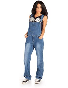 Damen-Latzhose, Light Wash Overalls für damen denim jean mode WOM89