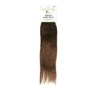 bandeau d extensions de cheveux naturels 8 clips n° 5 chatain clair