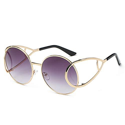 ZJWZ Europäische und AmerikaNische Fashion-Persönlichkeit Sonnenbrillen Damen mit dem Trend der Sonnenbrille Bunte allgemeine Metal-Sonnenbrille,C1