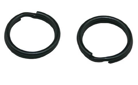amanaote Métal Noir 1,5cm Chaîne Porte-clés Anneau porte-clés personnalisés (Lot de 50)