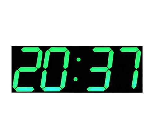 OLILEIO Orologio da Parete Digitale LED Sveglia Luce Grande Orologio da Parete elettronico cronometro Timer Stazione Meteo Capodanno Decorazione murale @ Shield_Green_China