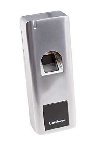 Fingerprint und RFID Türöffner -Wasserdichtes Transponder Zutrittsystem für Innen und Außen inklusive ext. Relais + 5 Chips)