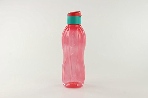 TUPPERWARE Botella Ecológica Click de 750 ml de color salmón turquesa 16915