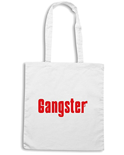 T-Shirtshock - Borsa Shopping OLDENG00086 gangster tshirt Bianco