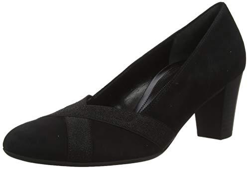 Gabor Shoes Damen Comfort Fashion Pumps, Schwarz (Schwar(Gz Glitter) 47), 38.5 EU -