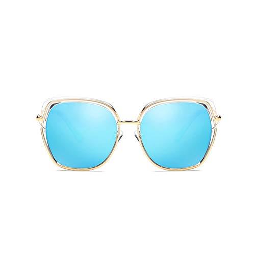 Thirteen Der Große Rahmen Der Polarisierten Sonnenbrille-Frauen, Der Bunte Polarisierte Spiegel Fährt, UVschutz DREI Farben Wahlweise Freigestellt Für Mehrfache Gesichter (Color : Blue)