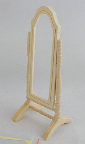 Mobili In Miniatura Per Case Delle Bambole Grezzo Legno Sta In Piedi Cheval Bendaggio Specchio
