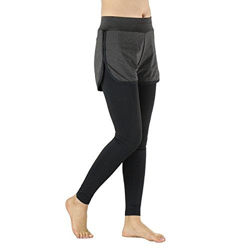 MaMaison007 ARSUXEO course de deux pièces pour femme Pantalons Compression collants exercice Yoga legging -M