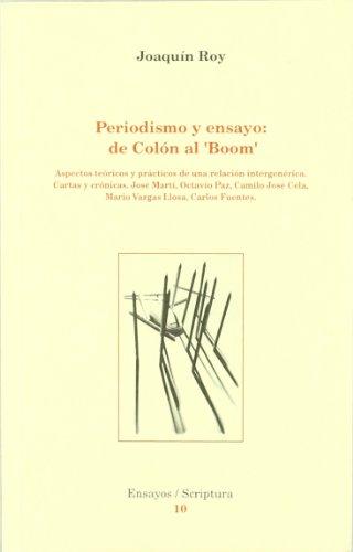 Periodismo y ensayo : De Colón al