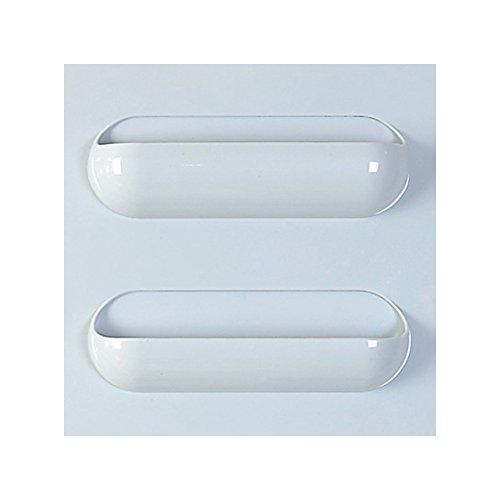 Wandhalterung Toilettenpapierhalter, Badezimmer Tissue Halter mit Handy-Ablage, Wischtücher Halter 22x22cm Blau 3 Rahmen