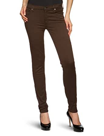 7 for all mankind Damen Jeans Normaler Bund SWTM700OQ, Gr. 25/32, Braun (Chocolate)