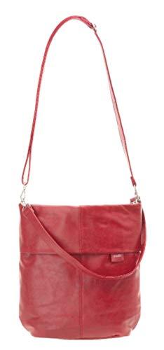 (zwei Mademoiselle M12 Umhängetasche 31 cm red)