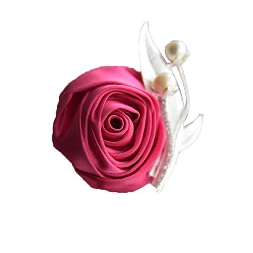 Dosige Brochesde Fleurs pour Revers Homme Boutonnière 1 Pcs Couleur Riche (Rose-c)