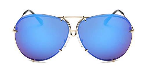 WSKPE Sonnenbrille Marke Design Aviation Sonnenbrille Männer Schattierungen Spiegel Weiblichen Sonnenbrillen Für Frauen Brillen Dunkle Blaue Linse