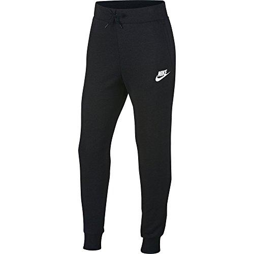 Nike Mädchen Sportswear PE Trainingshose, Black/White, M