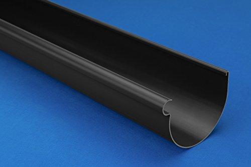 10 Meter PVC Dachrinnen RainWay Dachrinnensystem Ø90mm DACHRINNE anthrazit