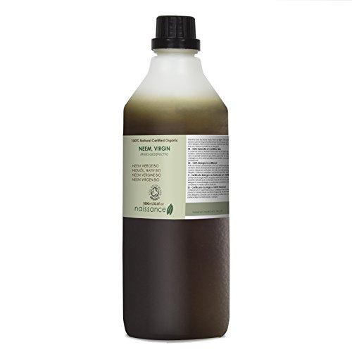 Naissance Neem Virgen BIO - Aceite Vegetal Prensado en Frío 100% Puro - Certificado Ecológico - 1Litro