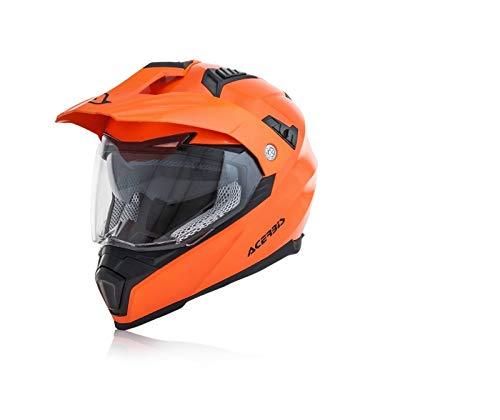Acerbis casco flip fs-606 arancio fluo x