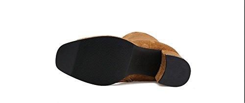 Europei e American Boots irregolare con Martin scrub scarponi Dark brown