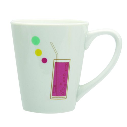Novastyl 7154062 Lot de 6 Tasses Tchin Porcelaine Multicolore 33 cl