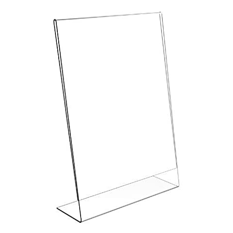 A2B Stationery A4 Acrylic Poster Menu Holder Lean To Perspex
