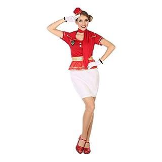ATOSA 54620 Stewardess Kostüm für die Dame Costume AIR Hostess XS-S, Rot/Weiss