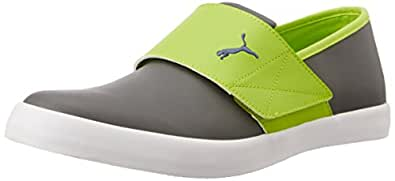 Puma Unisex El Rey Milano II DP Turbulence, Lime Punch and Navy Blue Sneakers - 10 UK
