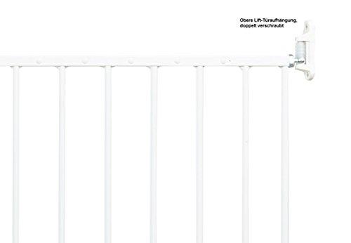 Impag Türschutzgitter Absperrgitter zum Schwenken 88 – 140 cm Astor Weiß - 5