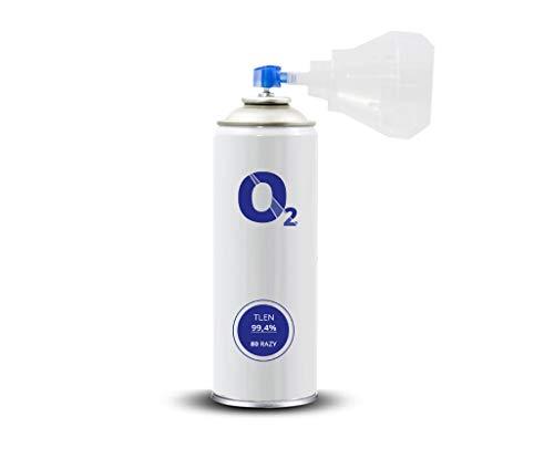 Oxymed24 Medizinischer Sauerstoff in der Dose 8L o2 Universal Mundstück Rein Inhalierbar - 1 Stück