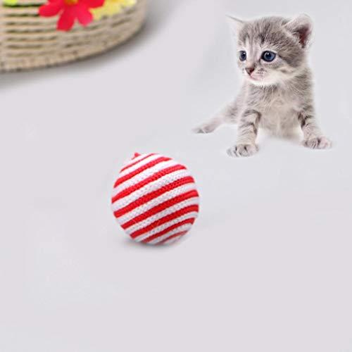WYXlink Ausverkauf Katze Spielzeug für Baby Katze Hund Ball Toys Reinigen Zähne Interaktives Cat Agility Training Funny Seil kauen Spielzeug (Ausverkauf Spielzeug)