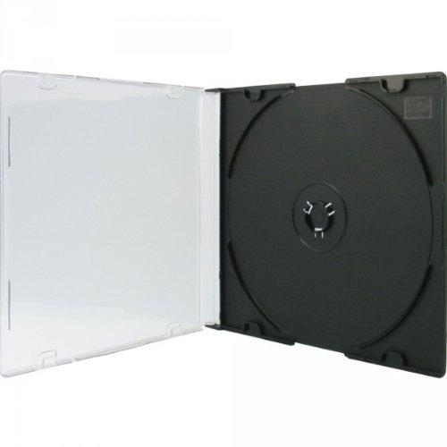 Xlayer 100 Stück DVD CD Hüllen Single black Slim Case