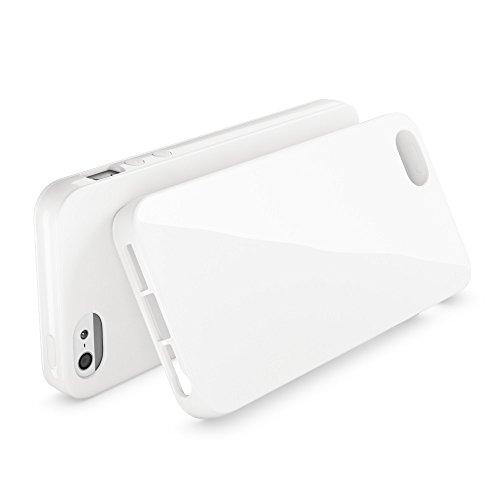 iPhone SE 5 5S Hülle Handyhülle von NICA, Ultra-Slim TPU Silikon Jelly Case, Dünnes Cover Gummi Schutzhülle Skin, Etui Handy-Tasche Backcover Bumper für Apple iPhone 5 5S SE Phone - Gelb Weiß