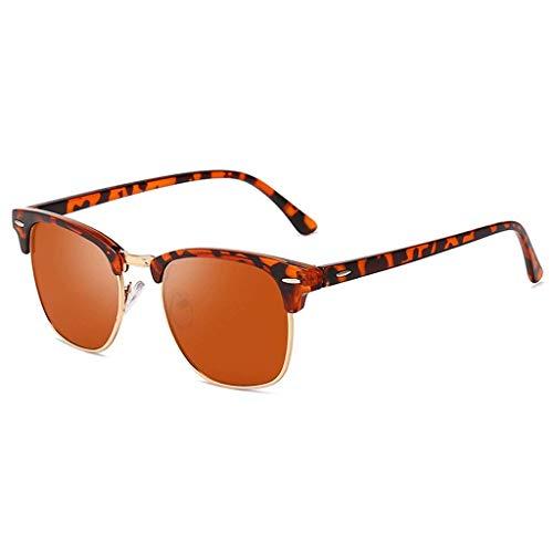 YHEGV Die polarisierten Sonnenbrillen der Trendmänner arbeiten bunte Sonnenbrillen des Metallhalbrahmens um