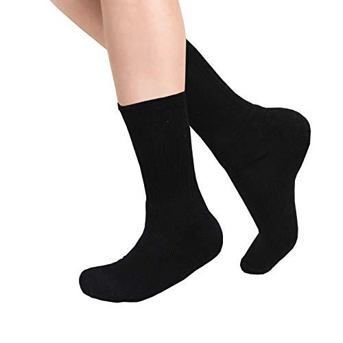 BTG Crew Long Cotton Sportsocken Unisex Schuhe für die Arbeit, Baumwolle, Black-m3pack, UK 6-11 -