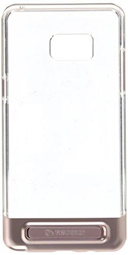 Galaxy Note 7Funda, VRS diseño [Crystal Bumper] [oro rosa]–[transparente] [Militar protección] [función atril] para Samsung Note 7